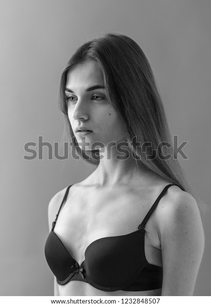Standard Model Tests Young Pretty Woman Stock Photo (Edit Now