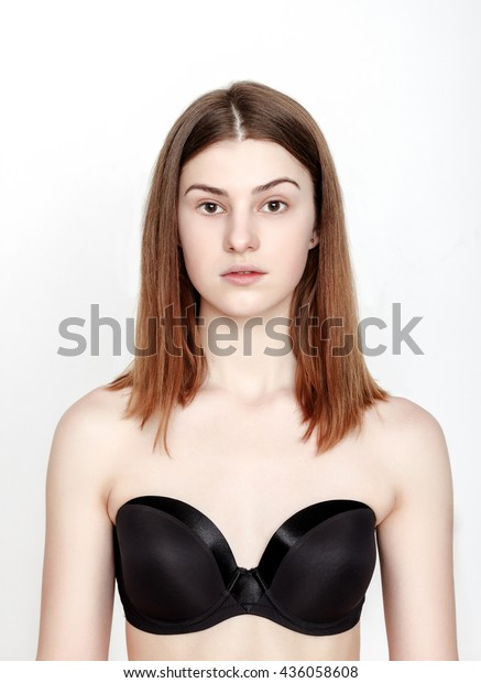 Standard Model Tests Young Pretty Woman Stock Photo (Edit Now) 436058608