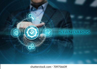 Standard Quality Control Certification Assurance Guarantee Internet Business Technology Concept.