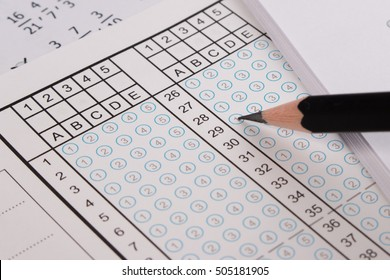 filling out answer sheet answer sheet stock photo edit now