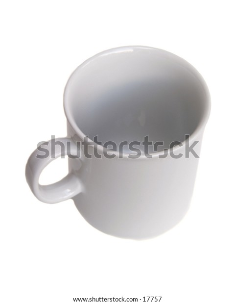 A standard white coffee cup isolated on white with clipping path.