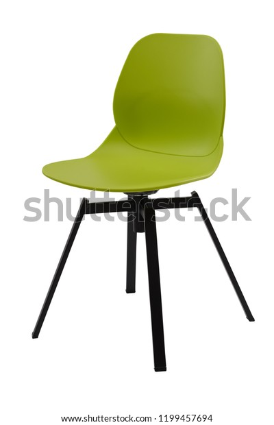 Standart Green Office Plastic Chair Isolated | Royalty-Free Stock
