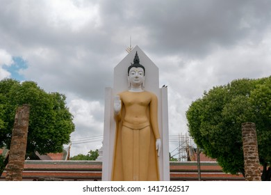 Standing Buddha in Phitsanulok Province of Thailand