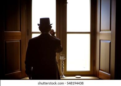 Standing gentleman