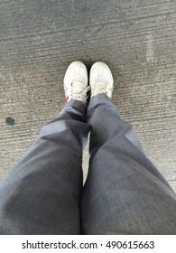 Standing on the groundfloor