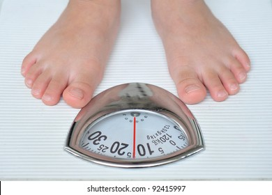 Standing On A Weighing Machine