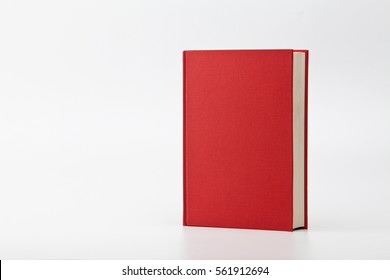 Standing Red Hardcover Book on white
