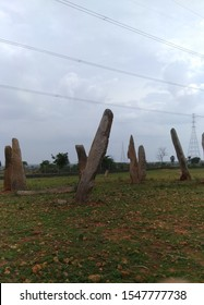 the standing rock poles at MULAMULLA in Indian state of Telangana. it is locally called NILUVU RAALU. these rocks are useful to early men finding of time. it is the evidence rocks for Early men using.