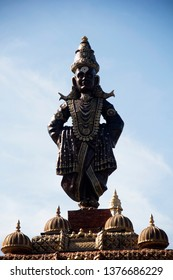 Standing statue of Lord Vitthal, close-up, during Ganpati Festival, Pune.