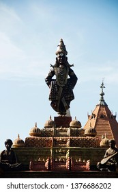Standing statue of Lord Vitthal and sant during Ganpati Festival, Pune.