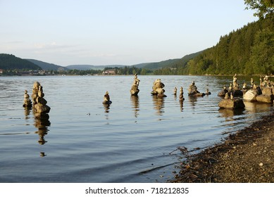 Standing stones in Lake Titisee