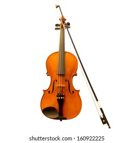 Standing violin with a fiddlestick (violin bow)