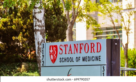 Stanford, CA - Aug. 20, 2017: Stanford University School of Medicine - it is the medical school of Stanford University and is located in Stanford, California.