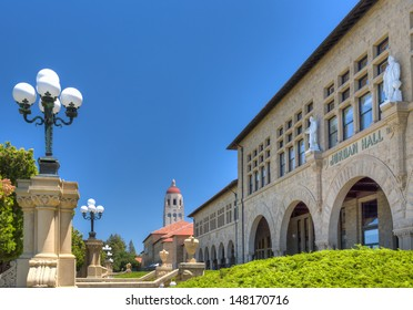 STANFORD, CA/USA - JULY 6: Historic Jordan Hall on the campus of Stanford University. July 6, 2013.