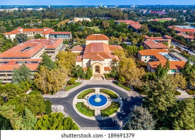 STANFORD, CA/USA - NOVEMBER 11: view of historic Standford University campus seen on November 11, 2013, California, USA