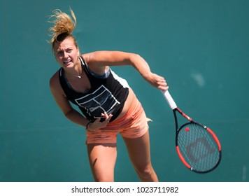STANFORD, UNITED STATES - AUGUST 1 : Petra Kvitova of the Czech Republic at the 2017 Bank of the West Classic WTA Premier tennis tournament