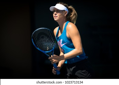 STANFORD, UNITED STATES - JULY 29 : Maria Sharapova of Russia at the 2017 Bank of the West Classic WTA Premier tennis tournament