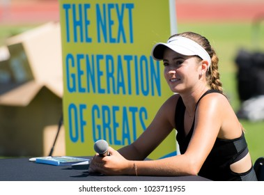 STANFORD, UNITED STATES - JULY 31 : Catherine CiCi Bellis of the United States at the 2017 Bank of the West Classic WTA Premier tennis tournament
