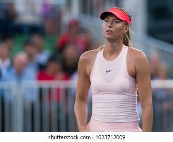 STANFORD, UNITED STATES - JULY 31 : Maria Sharapova of Russia at the 2017 Bank of the West Classic WTA Premier tennis tournament