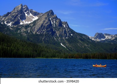 Stanley Lake with Sawtooths in background, Stanley Idaho