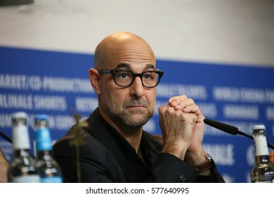 Stanley Tucci attends the 'Final Portrait' press conference during the 67th Berlinale  Film Festival Berlin at Grand Hyatt Hotel on February 11, 2017 in Berlin, Germany.