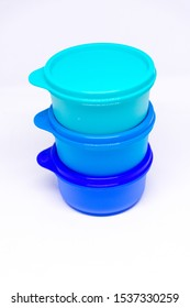 Stanly, Alexandria/Egypt - Oct 21, 2019: Tupperware bowls set - Tupperware products is an American brand specializing in plastic products. - Image