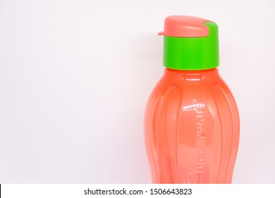 Stanly, Alexandria/Egypt - Sep 19, 2019: Tupperware bottles - Tupperware products is an American brand specializing in plastic products.