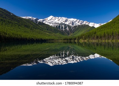 Stanton Lake with Great Northern Mountain in background, Montana