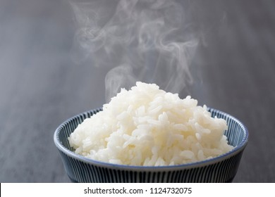 Staple food of cooked white rice,