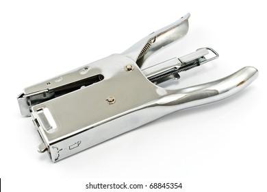 Stapler for paper isolated on white