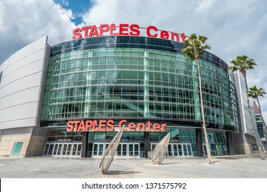 Staples Center at Downtown Los Angeles - CALIFORNIA, UNITED STATES - MARCH 18, 2019
