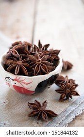 Star anise in a small dish