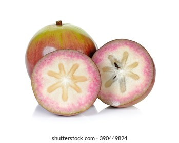 Star apple isolated on the white background.