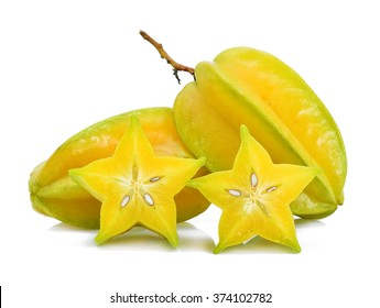 Star apple on white background