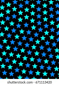 Star background containing random shapes for high definition backdrop