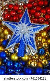Star and balls like New Year's decoration