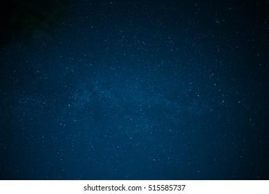 Star blue night Milky Way