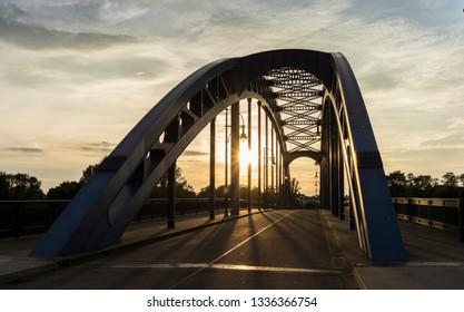 The Star Bridge in Magdeburg, Germany