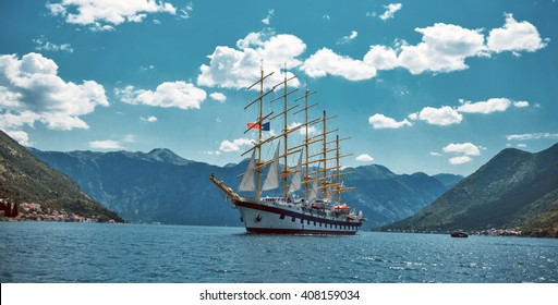 Star Clippers sailboat in Boca Bay of Kotor Perast in about June 2010