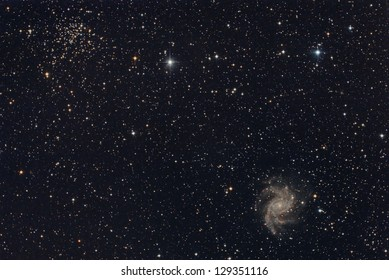star cluster and galaxy