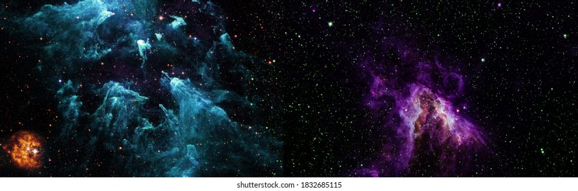 Star cluster and nebula - A cloud in space. Abstract astronomical galaxy. Elements of this image furnished by NASA.