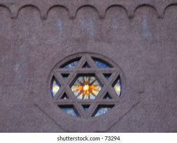 A Star of David on a Synagauge