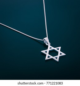 Star of David Pendant with Chain.