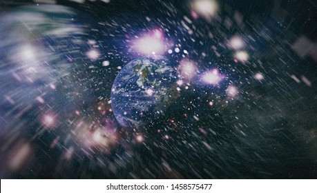 Star field and nebula in deep space many light years far from planet Earth. Elements of this image furnished by NASA.