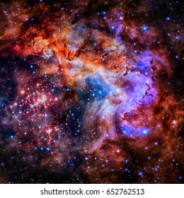 Star field and nebula in deep space. Elements of this image furnished by NASA
