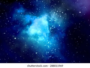 "Star field in space a nebulae and a gas congestion. ""Elements of this image furnished by NASA""."
