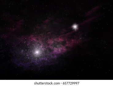"""Star field in space a nebulae and a gas congestion. """"Elements of this image furnished by NASA"""". 3D rendering"""