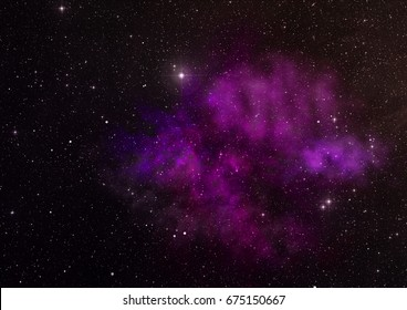 """Star field in space a nebulae and a gas congestion. """"Elements of this image furnished by NASA""""."""
