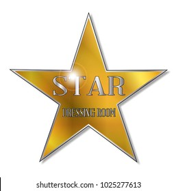 The star as found on the dressing room of the theatre Star act