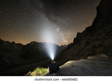 Star gazing high in the mountains.